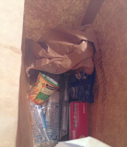 買い物した商品の袋