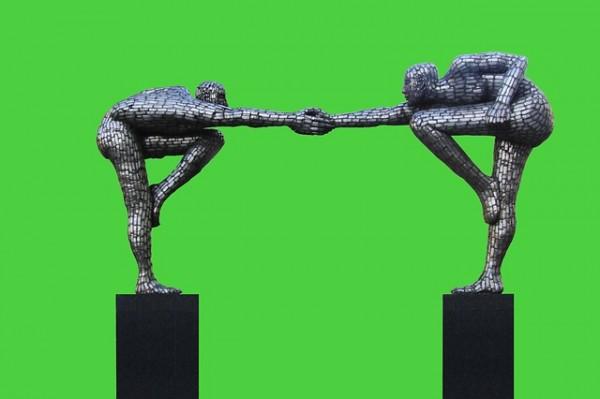 フレンドリーな彫刻