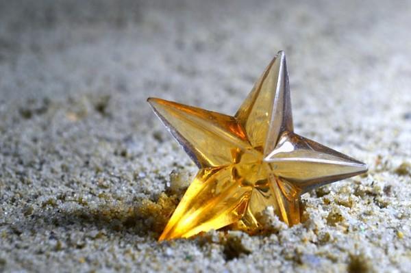 星型のガラス