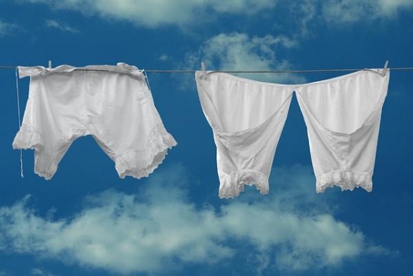 洗濯した白い下着