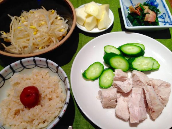 玄米の朝食メニュー