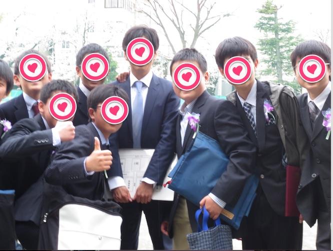 小学校卒業式集合写真