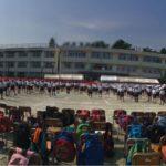 小学校運動会の校庭