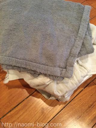 使い古したタオル