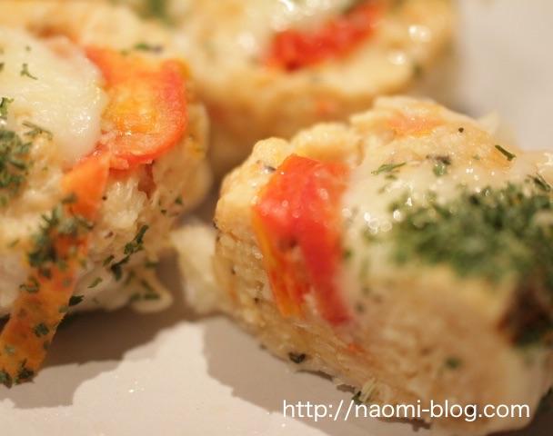 トマトとモッツアレラチーズの鶏焼売